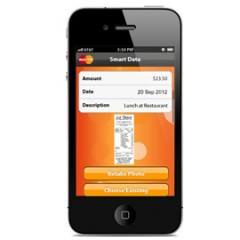 MasterCard Smart Data Mobile App helps corporate card holders manage receipts