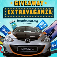 Win a brand new Mazda 2 car when you purchase online at Lazada Malaysia