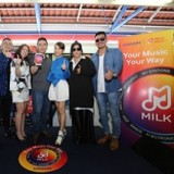 Samsung Electrifies Train Rides with Milk Music Groove