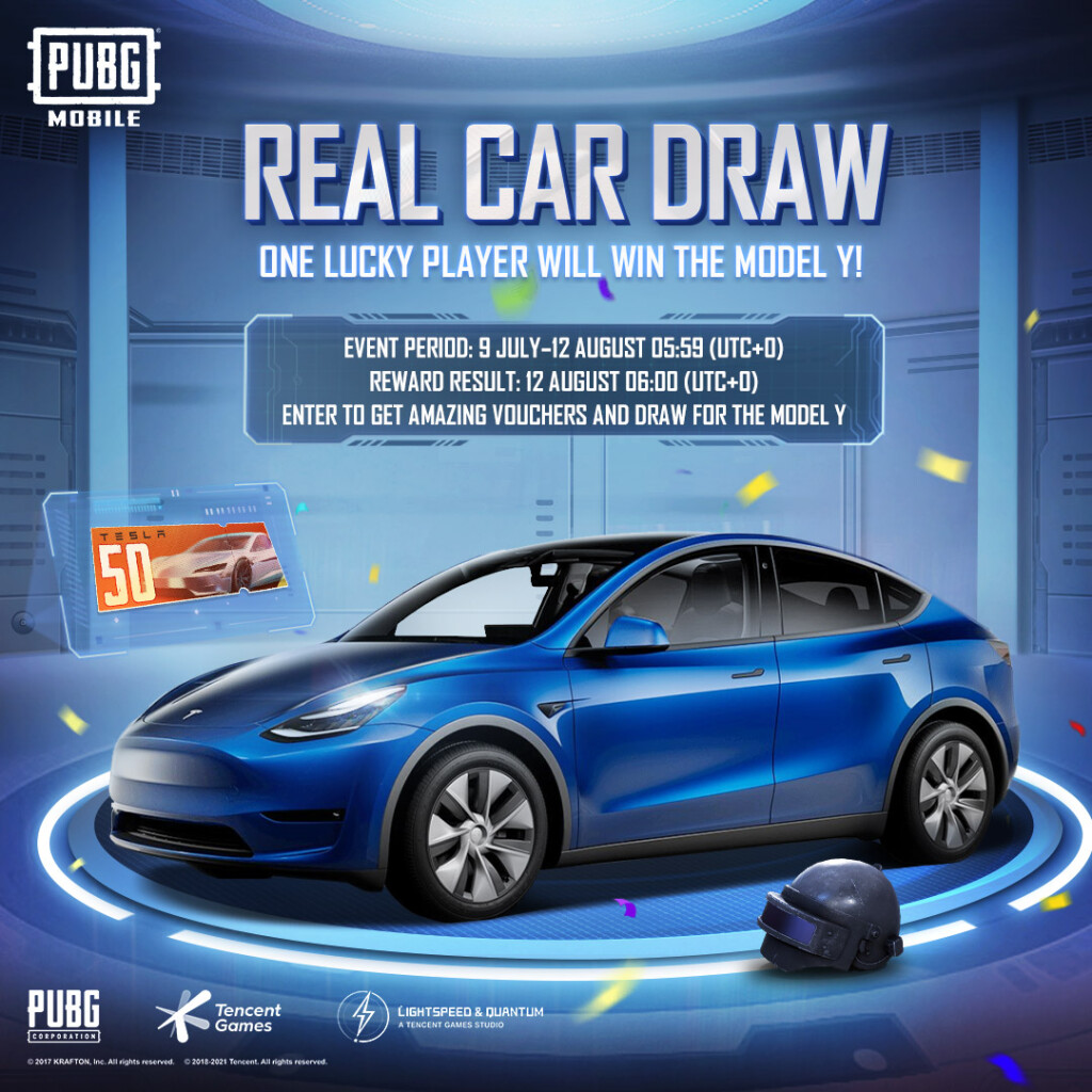 Event _Real Car Draw_ to win TESLA Model Y